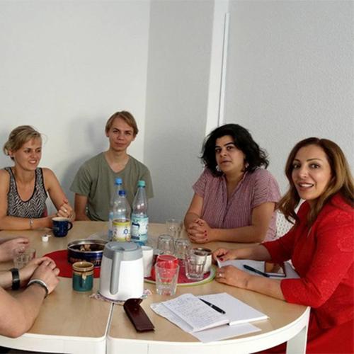 Freiwillige von Kulturweit zu Besuch