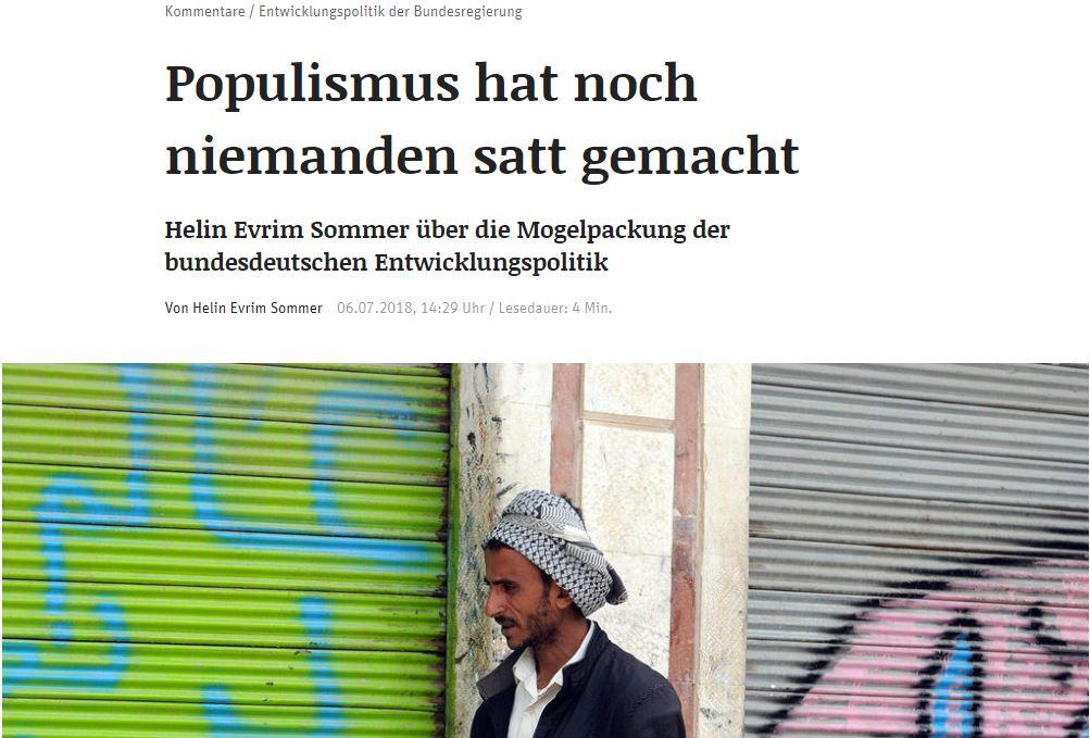 Kolumne ND: Populismus hat noch niemanden satt gemacht