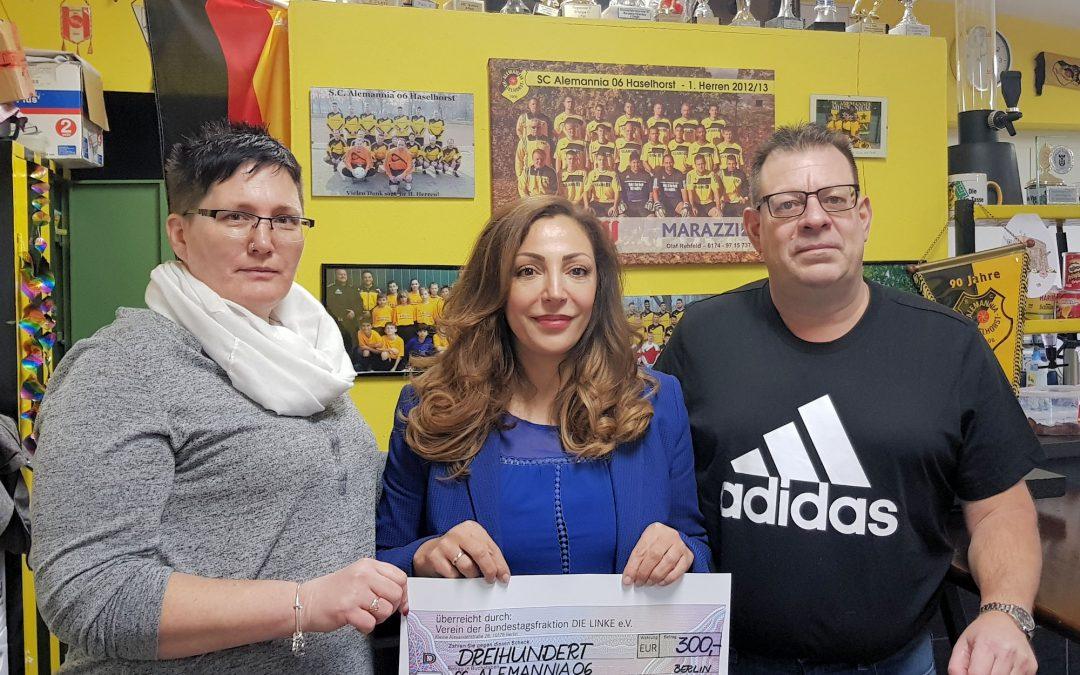 Spende für den Fußballverein SC Alemannia 06 Haselhorst