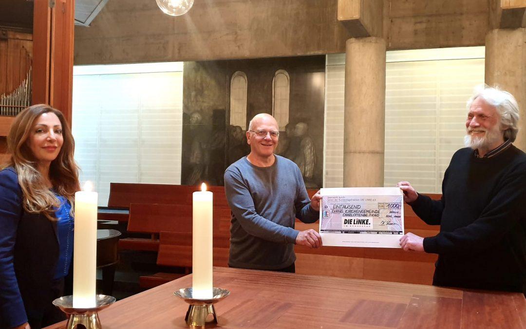 1000 Euro für die Gedenkkirche Plötzensee